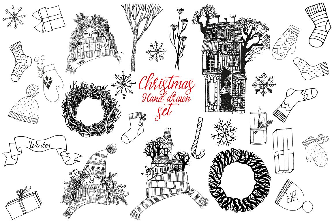Christmas vector sketch example image 1
