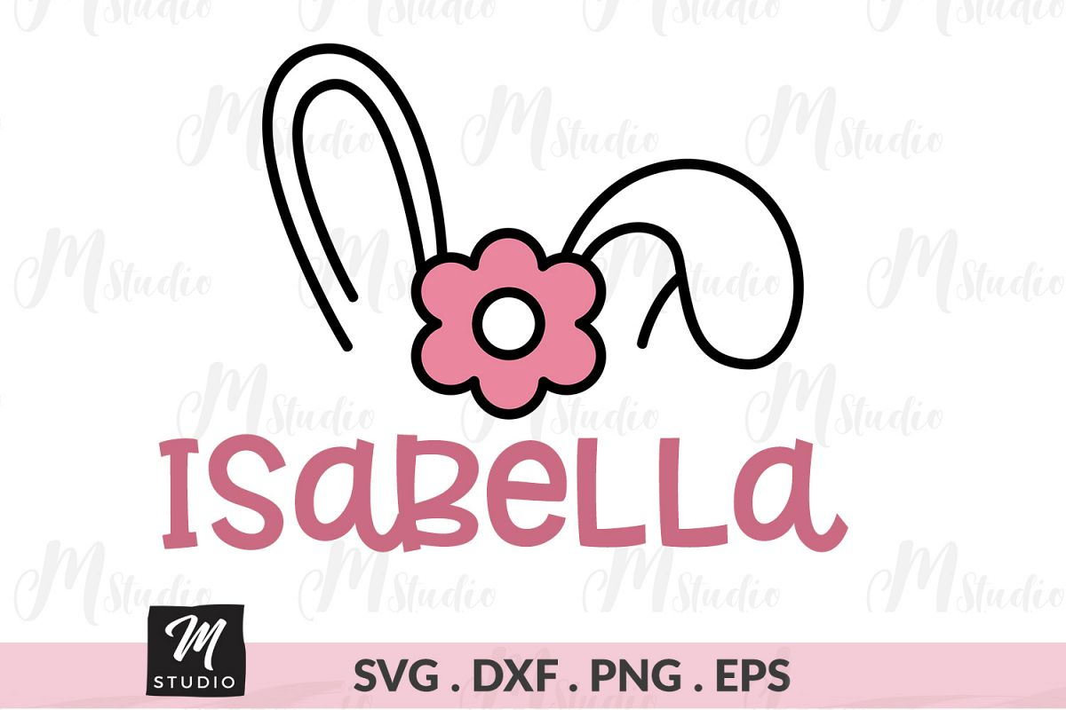 Girl Bunny svg. example image 1