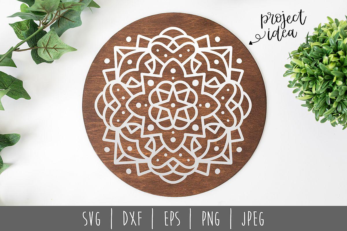 Mandala SVG, DXF, EPS, PNG JPEG example image 1