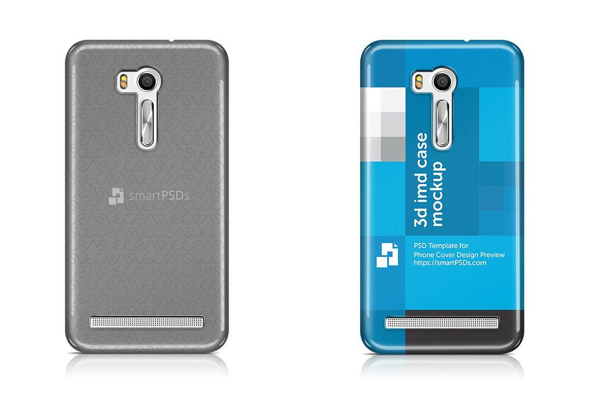 Asus Zenfone Go ZB551KL 3d IMD Mobile Case Design Mockup 2016 example image 1