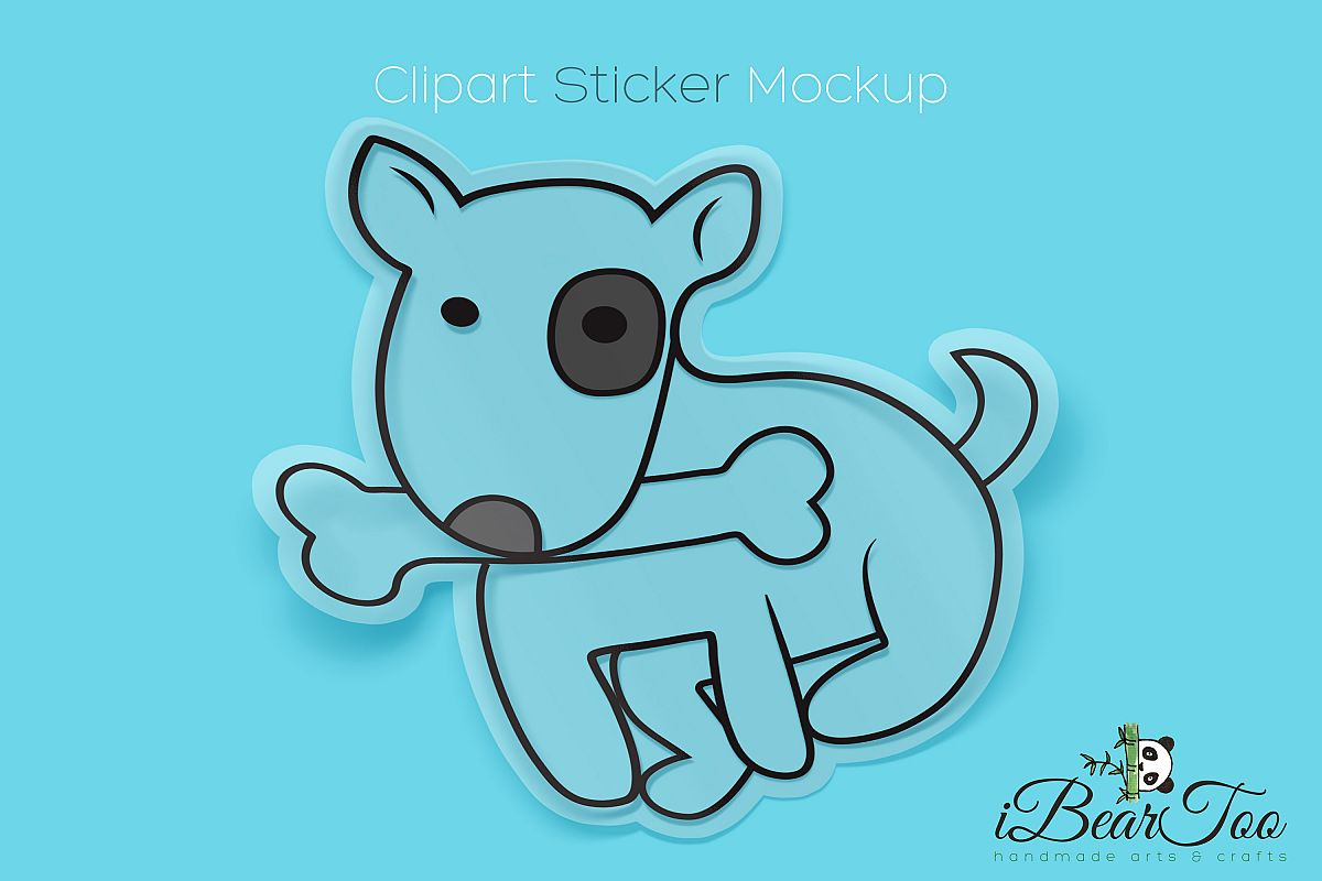 Cute Dog with Bone SVG Cute Puppy Drawing Vector Cut Files