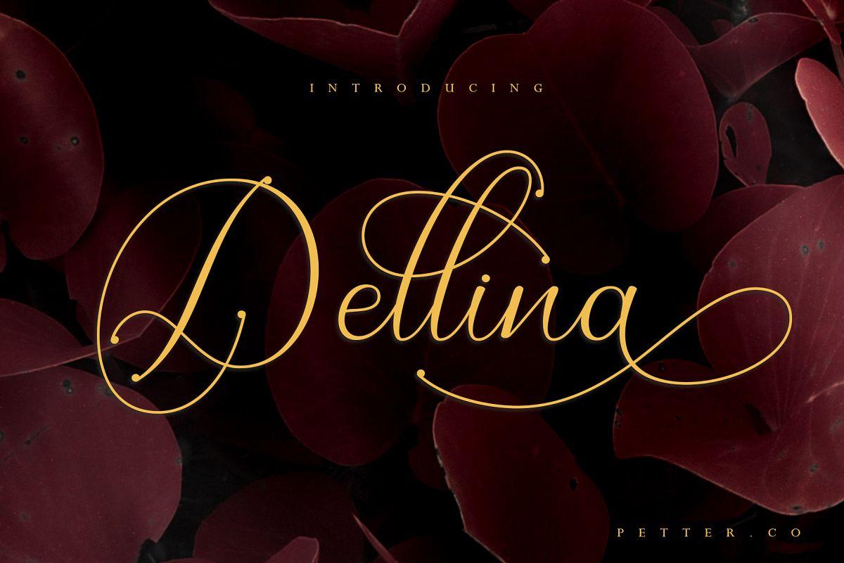 Dellina Script example image 1