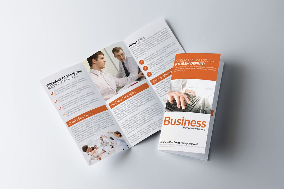 Business Solution Trifolde Brochure example image 1