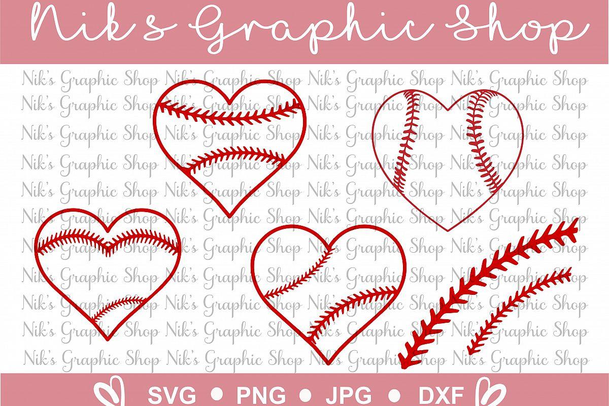 Baseball Heart Svg, Ball heart svg, stitches svg, baseball cut files, cute baseball svg, baseball svg, heart svg example image 1