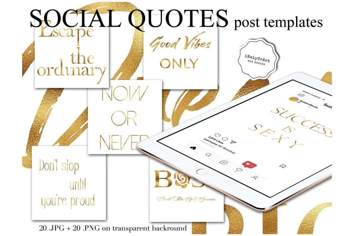 Quotes Posts Template - Instagram Quotes example image 1