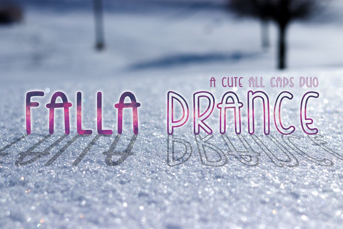 Falla Prance | A cute all caps duo font| Monoline Font example image 1