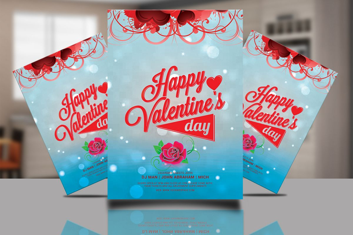 Valentine Flyer Template Psd example image 1