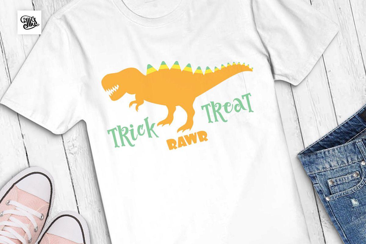 Trick Rawr Treat - Halloween dinosaur example image 1