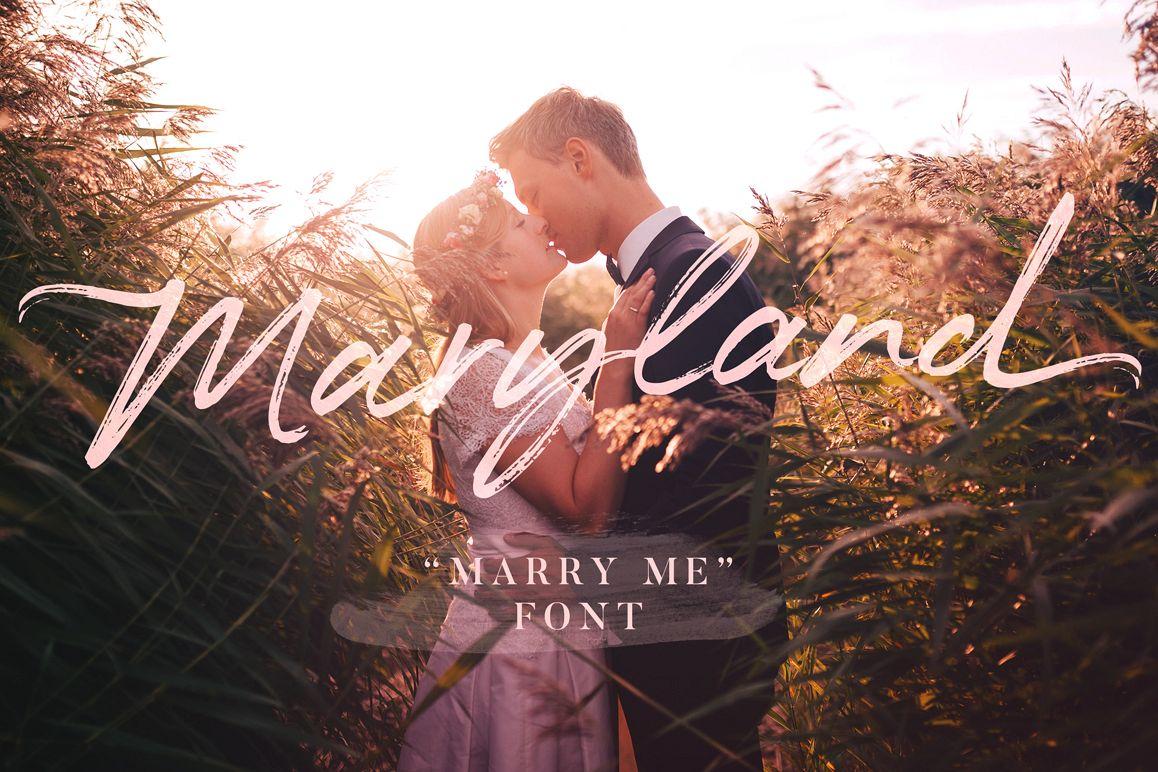 Maryland Wedding Font example image 1