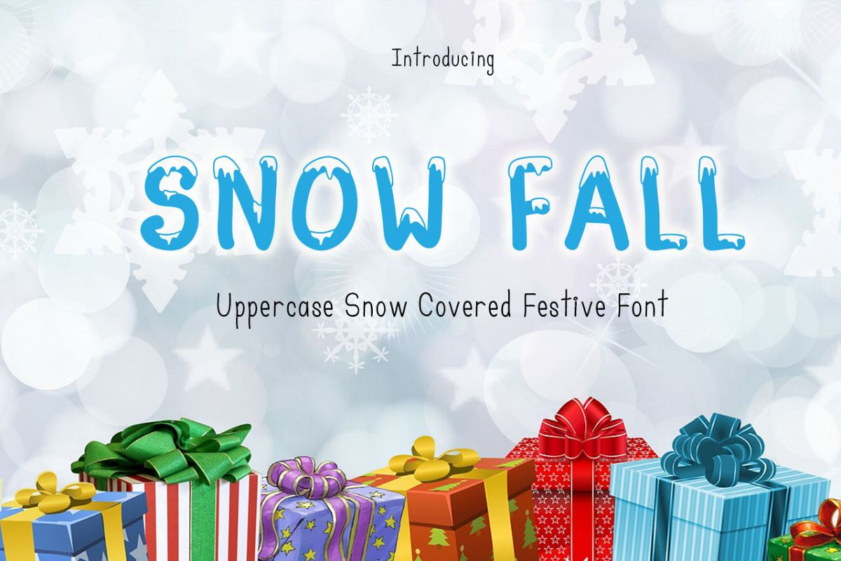 Snow Fall - Snow Covered Font example image 1