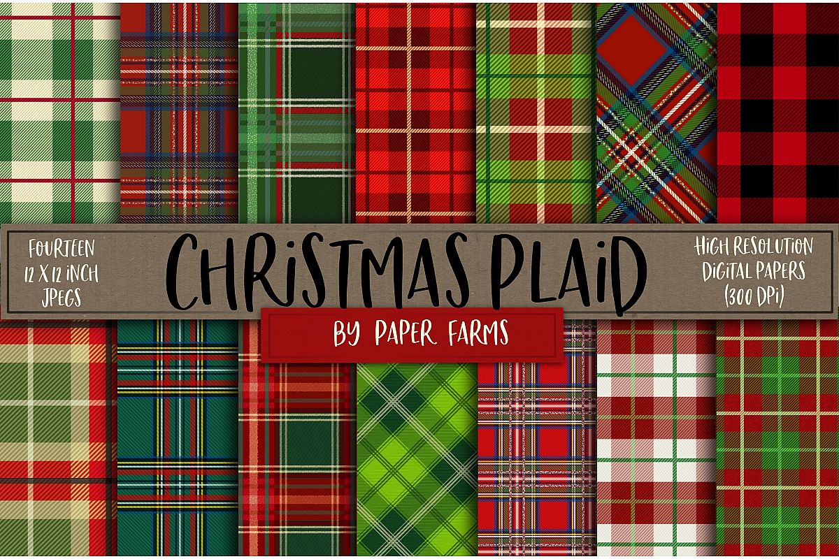 Christmas plaid backgrounds example image 1