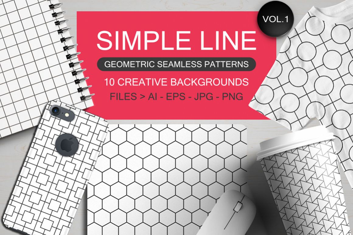 Seamless Geometric Patterns Vol 1 Example Image