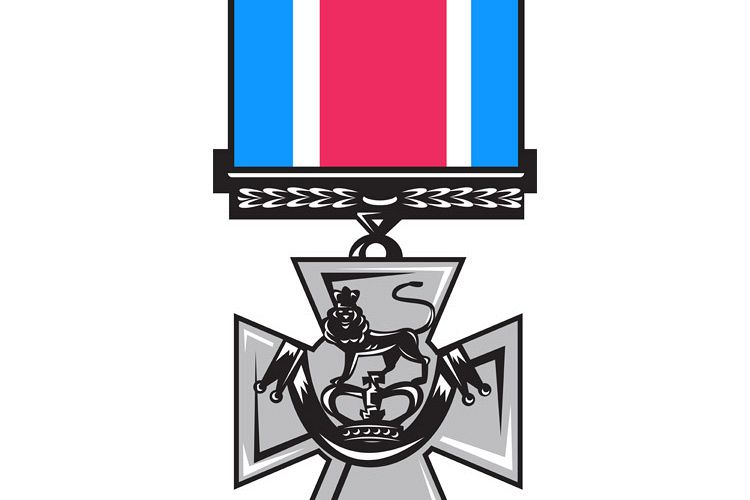 military medal of bravery crossed swords example image 1