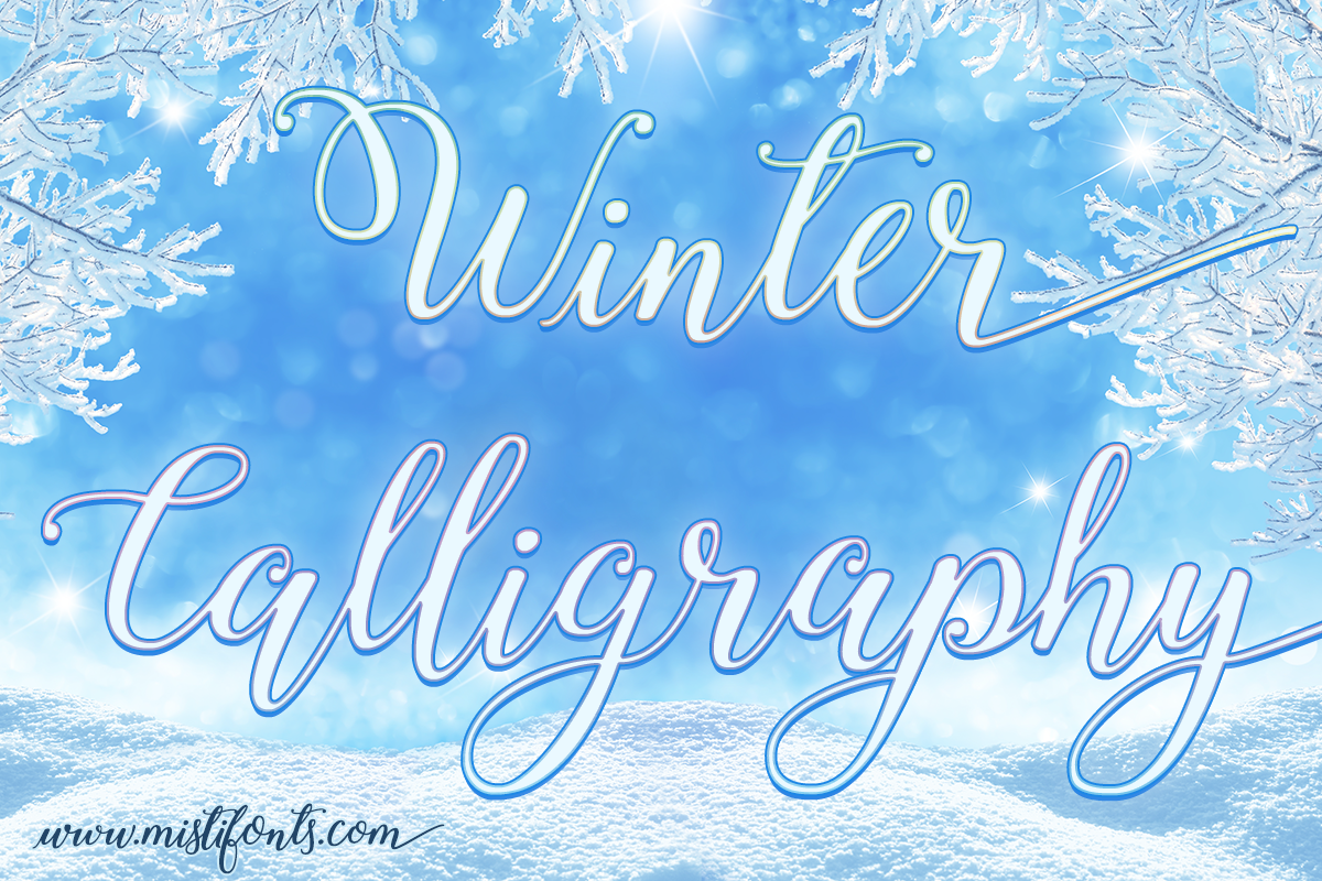 Winter Calligraphy example image 1