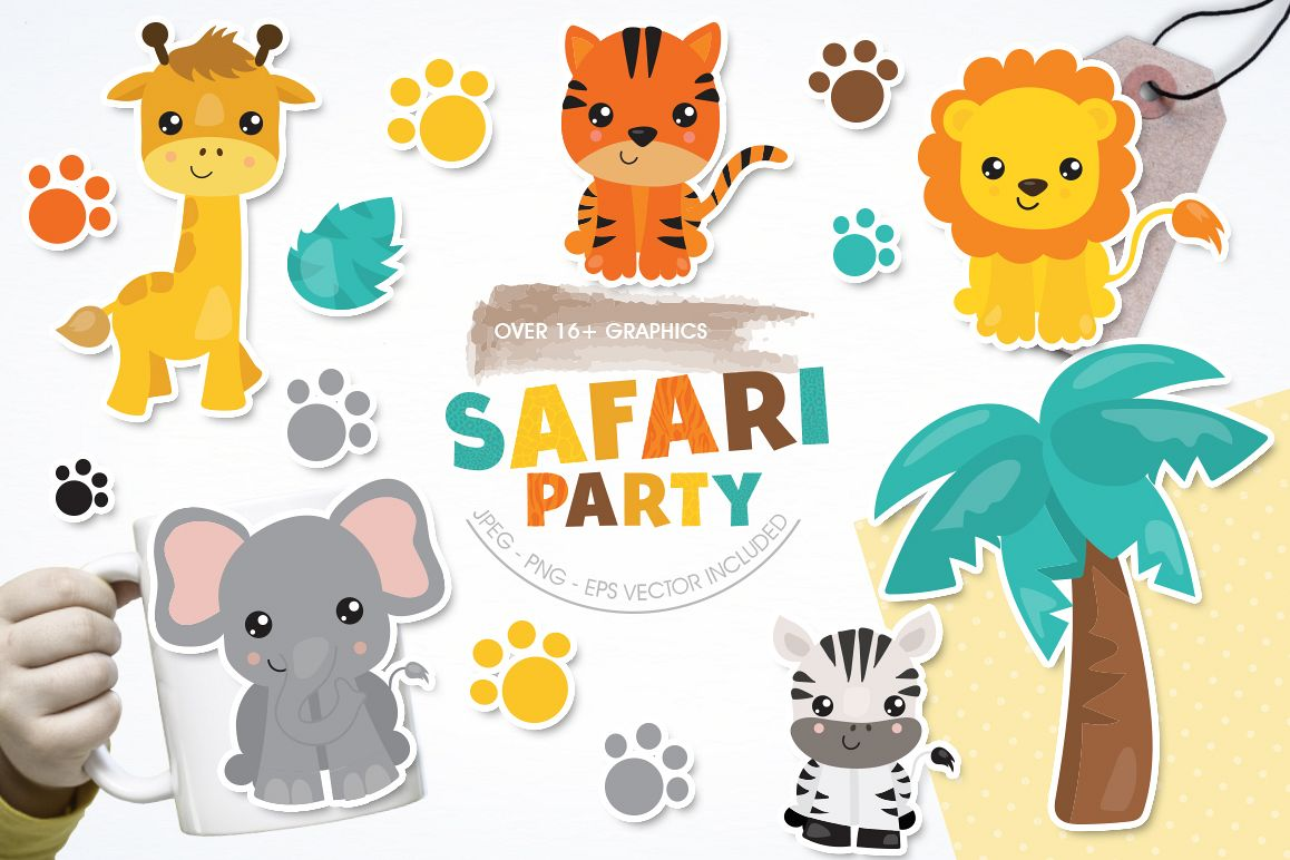 Safari Party graphic and illustration example image 1