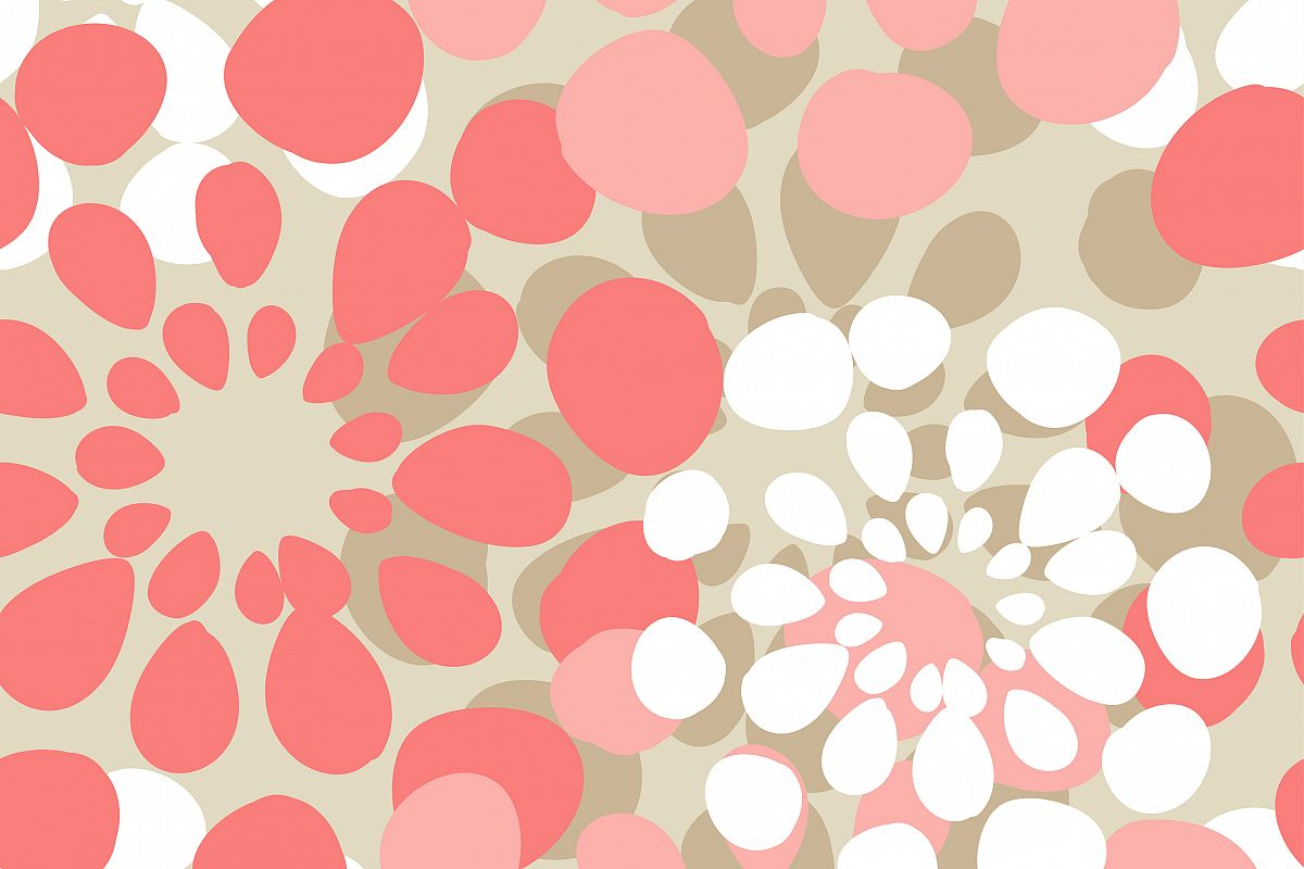 Seamless geometric background. Drops texture. Textile rapport. example image 1