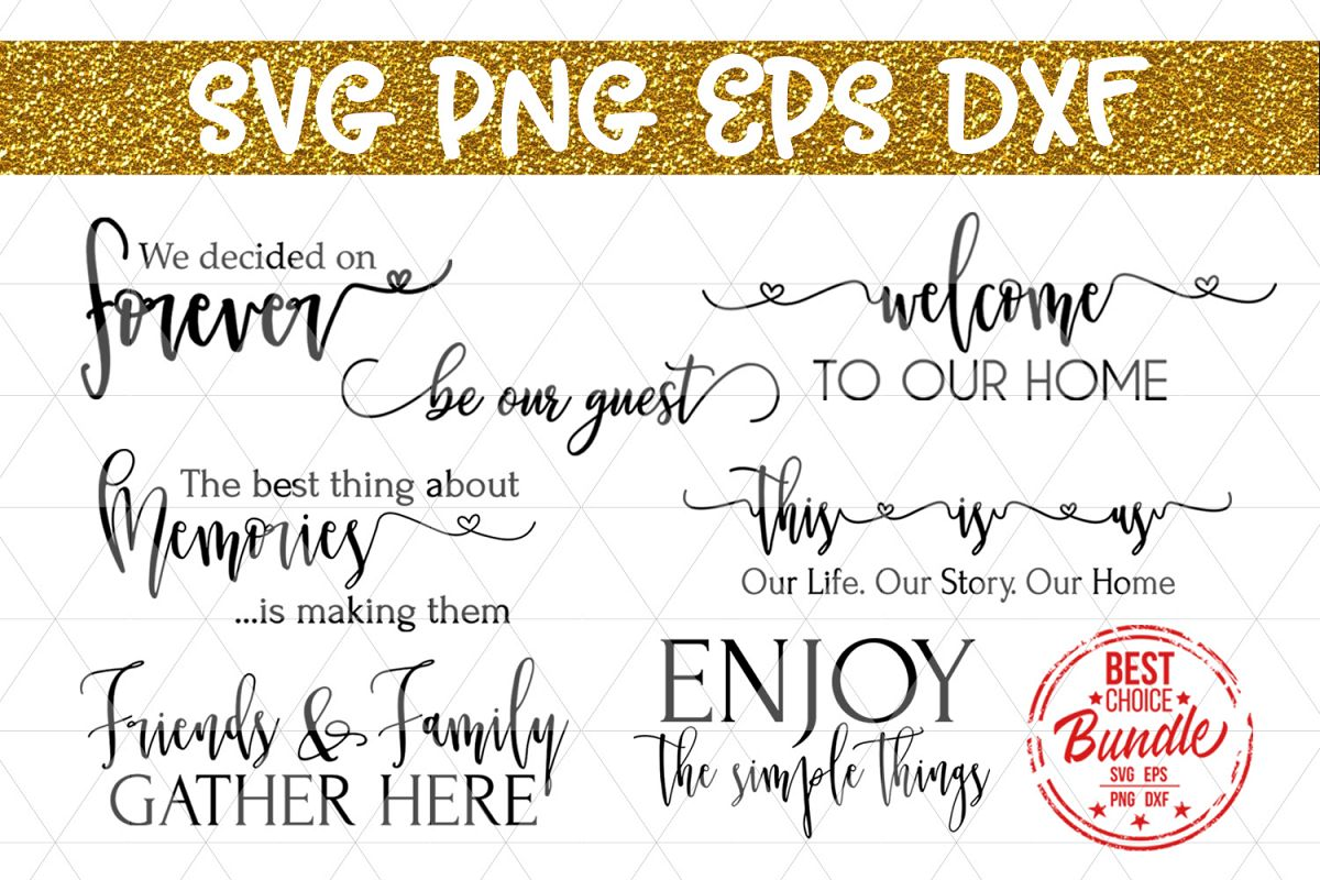 Home Decor Bundle Svg File Rustic Sign Sayings Dxf Png