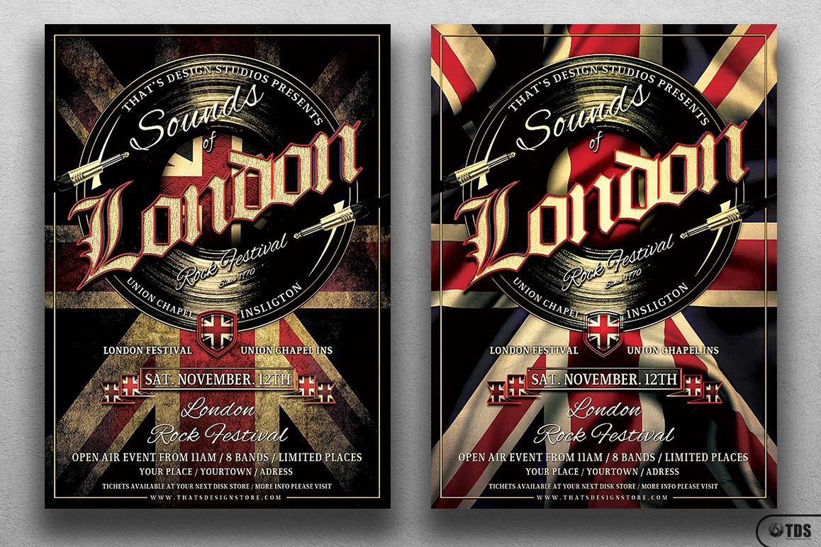 Sounds of London Flyer Template example image 1