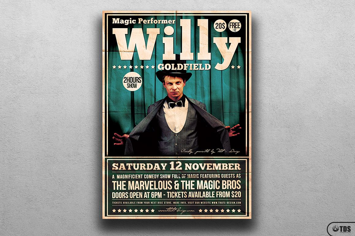 Magic Performer Flyer Template V1 example image 1