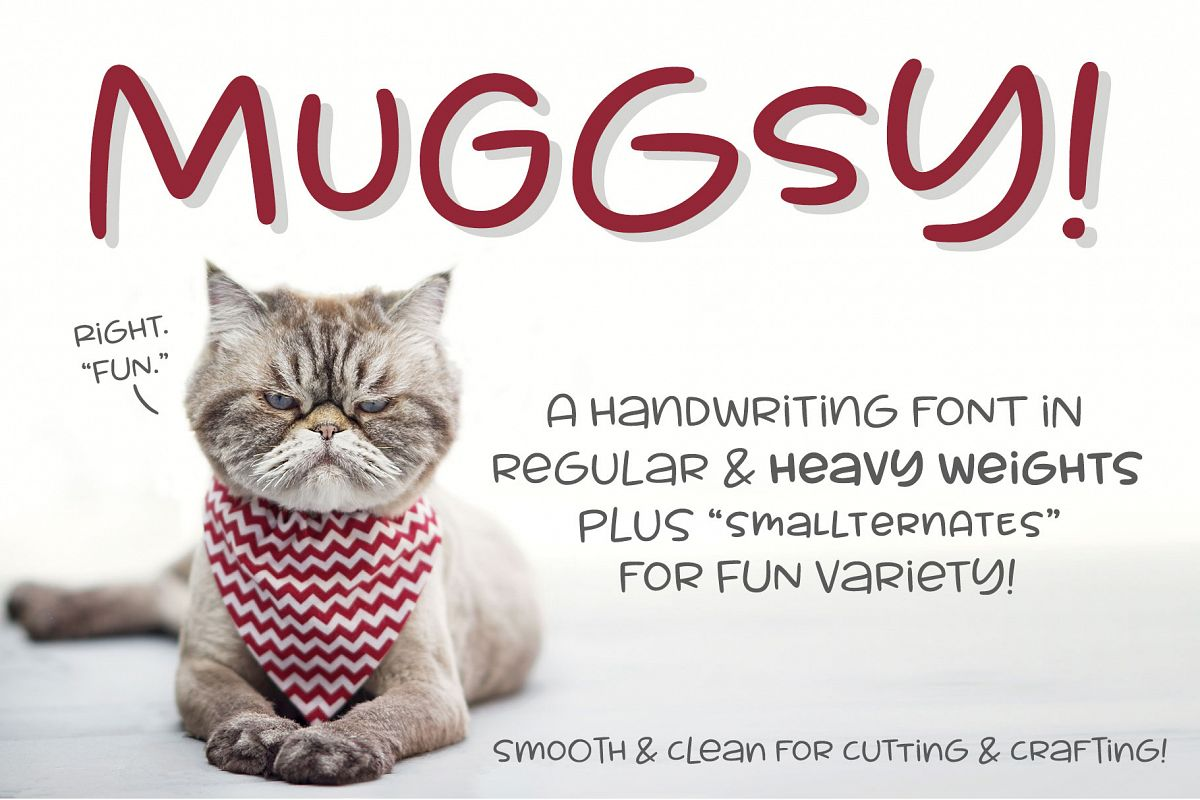 Muggsy - a short and stout fun font! example image 1
