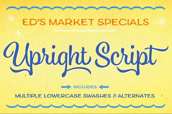Ed's Market Upright Script example image 1