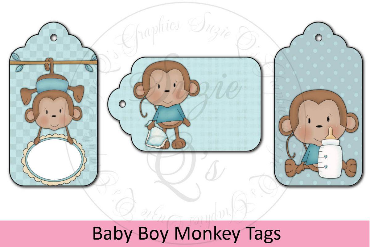 Baby Boy Monkey Tags example image 1
