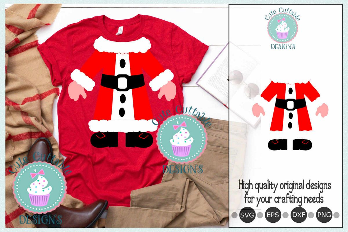 Mrs Santa SVG, Ugly sweater Mrs Claus Christmas sweater example image 1