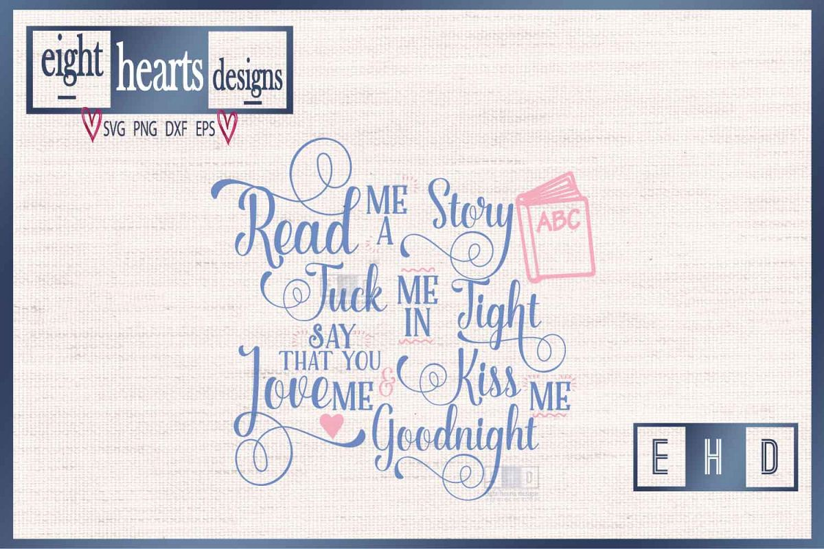 Read me a Story -SVG PNG EPS DXF - Great quality Cut file example image 1