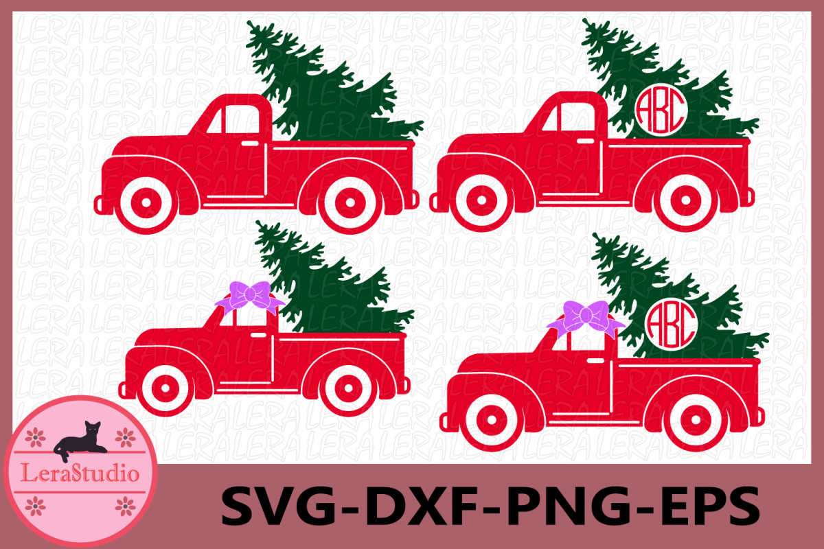 Christmas Truck SVG, Christmas Svg, Christmas Tree Truck example image 1