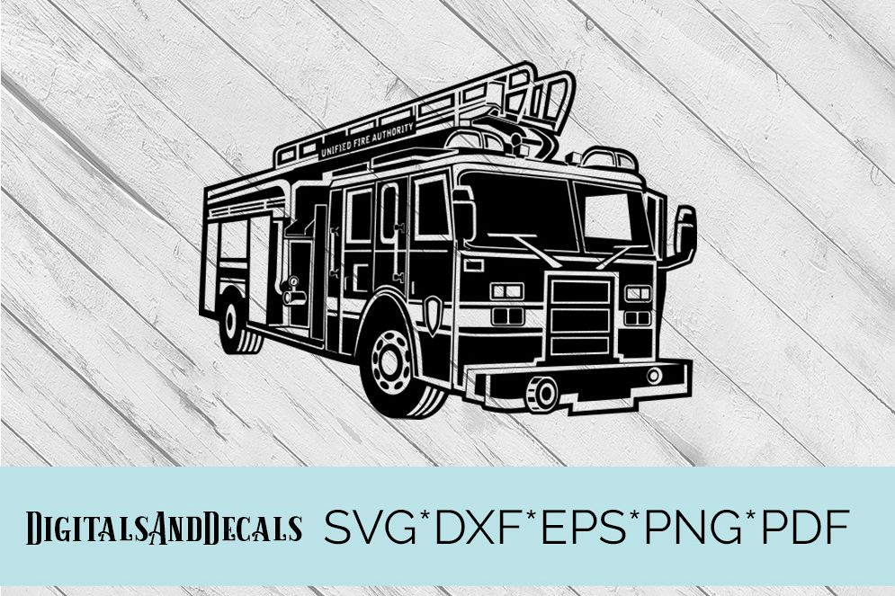 Fire Truck, Fire Engine SVG Cutting File  example image 1