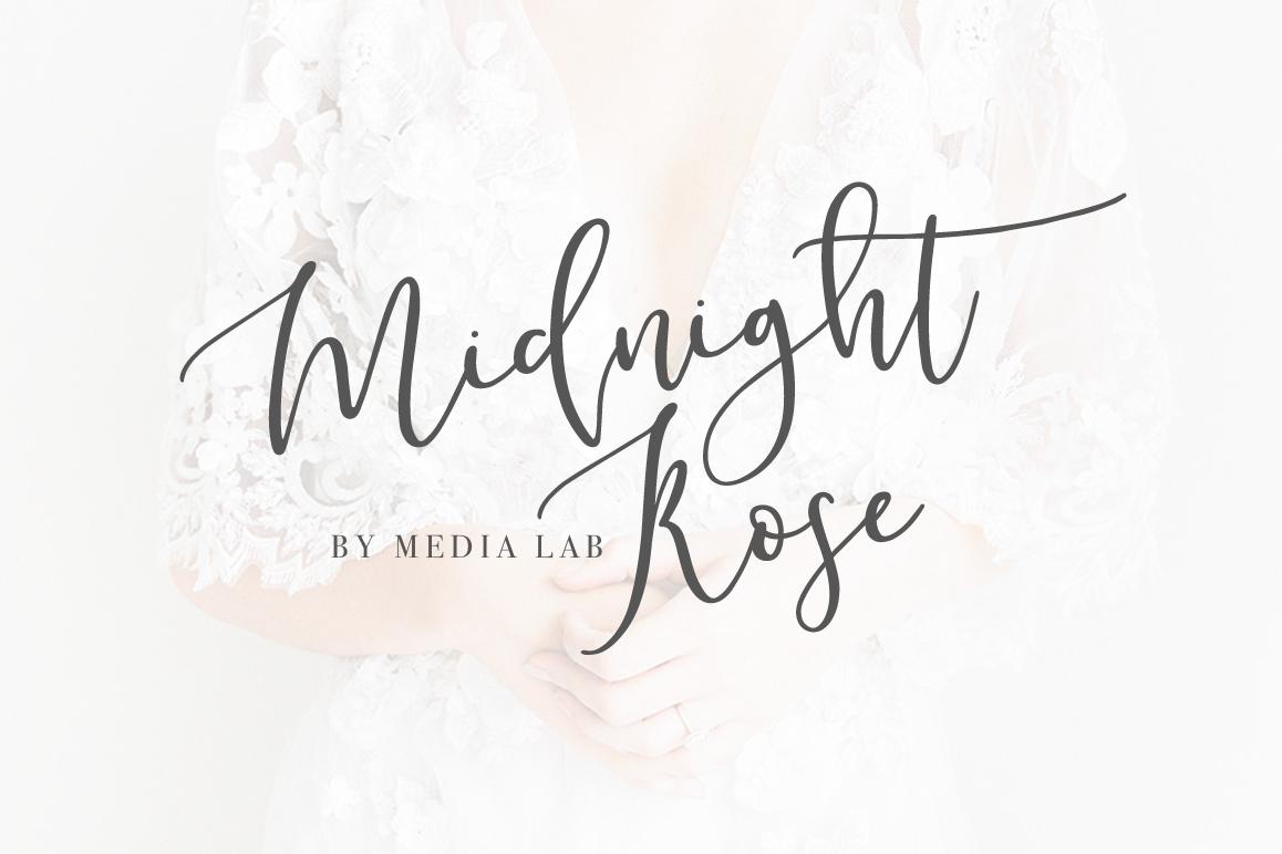 Midnight Rose Script example image 1