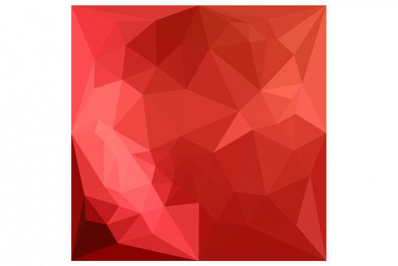 Tomato Red Abstract Low Polygon Background example image 1