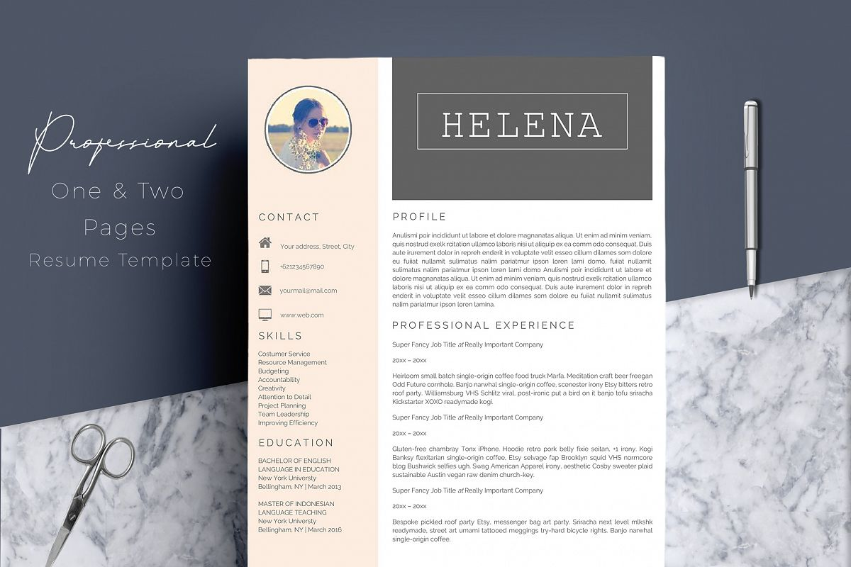 Professional Resume Template CV 4 Pages example image 1