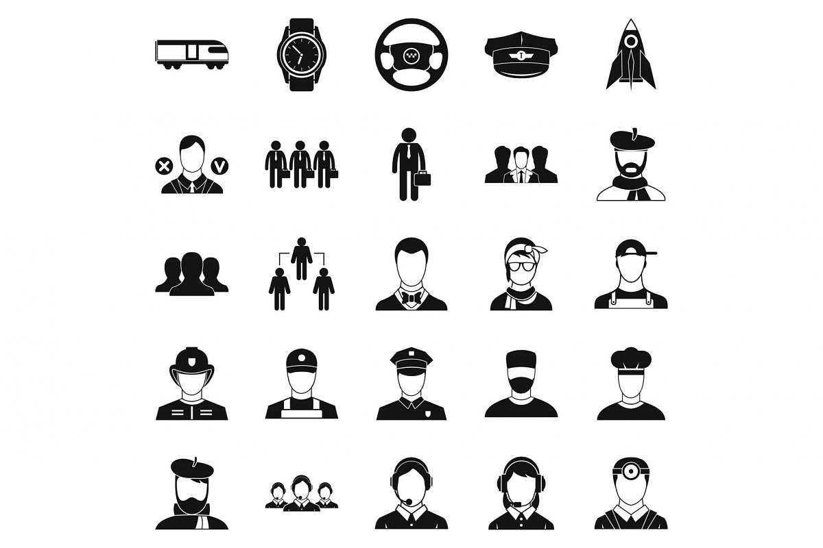 Prosperity icons set, simple style example image 1