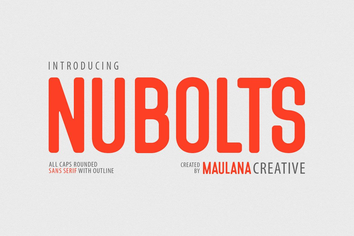 Nubolts Rounded Sans Family Font example image 1