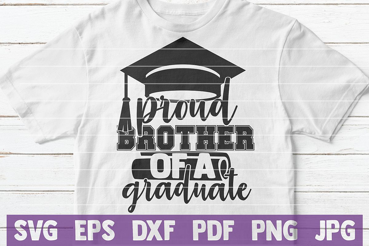 Proud Brother of a Graduate SVG cut file example image 1