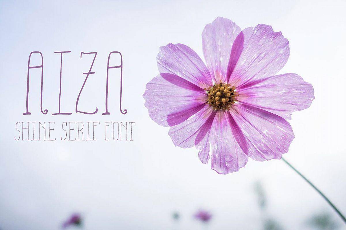 Aiza Shine Serif Regular Font example image 1