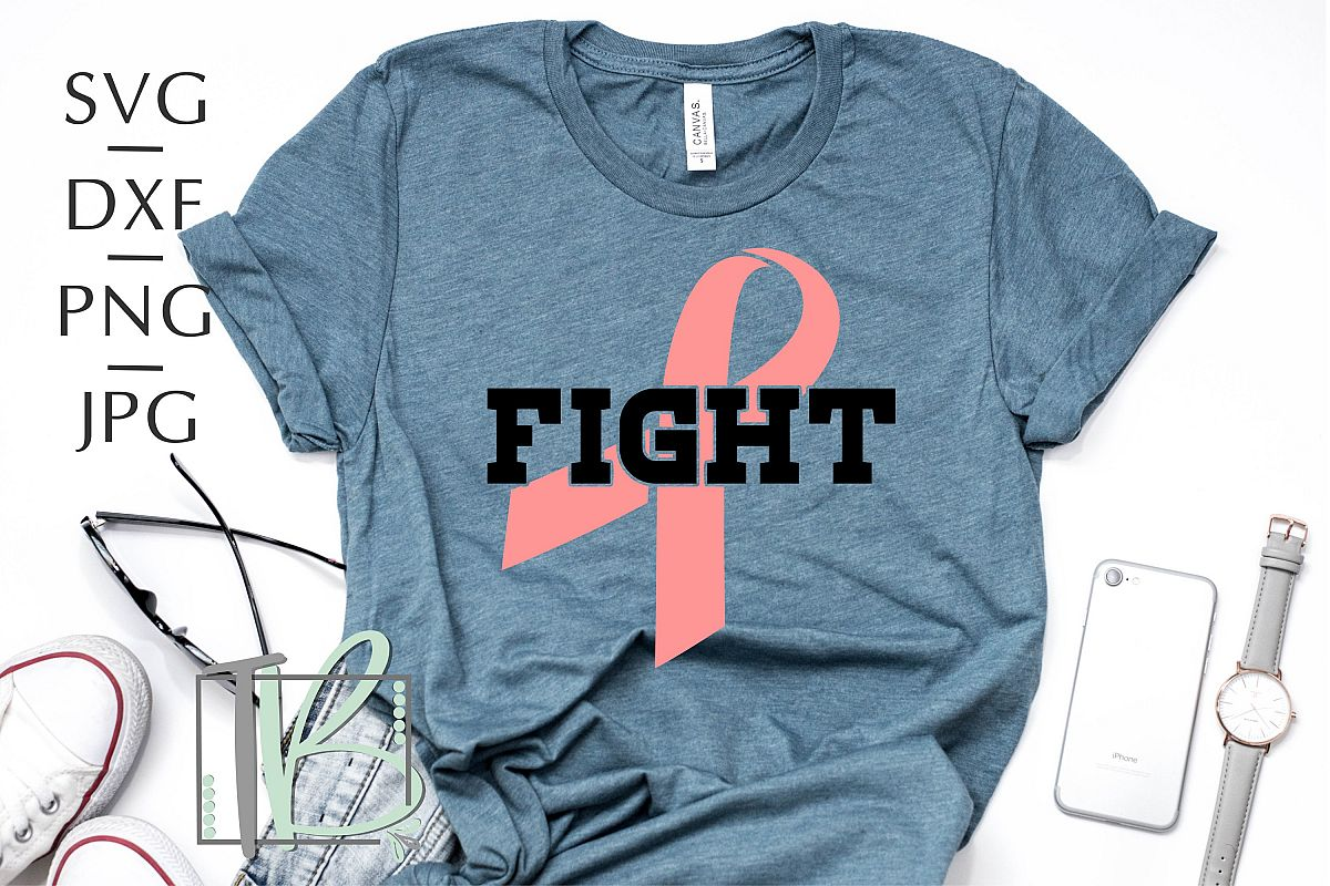 Breast Cancer SVG, Fight SVG, Pink Ribbon SVG example image 1