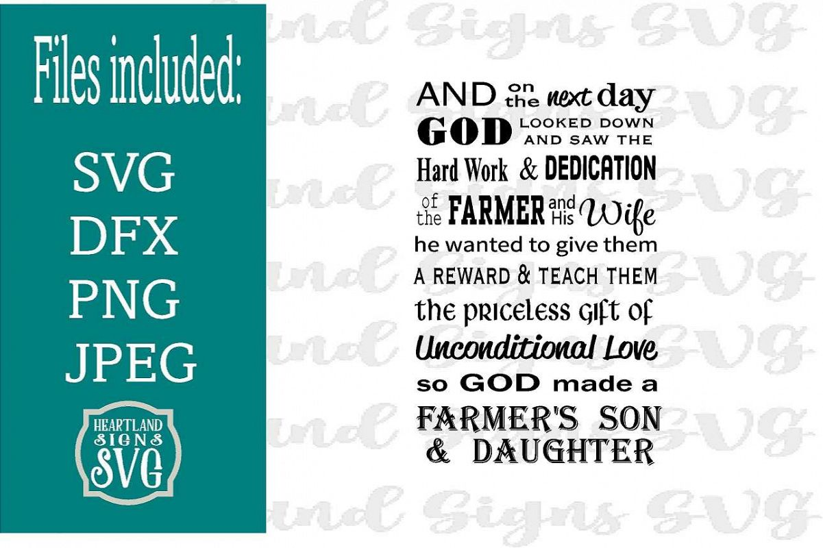Farmer Son & Daughter SVG example image 1