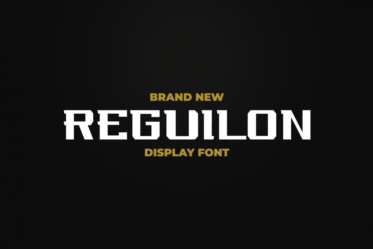 REGUILON Dispplay Font example image 1