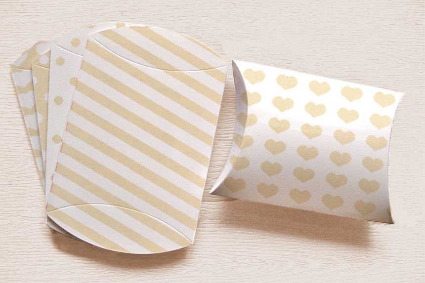 picture regarding Dots and Boxes Printable called White Printable Pillow Containers with Stripes Polka Dots, and Hearts