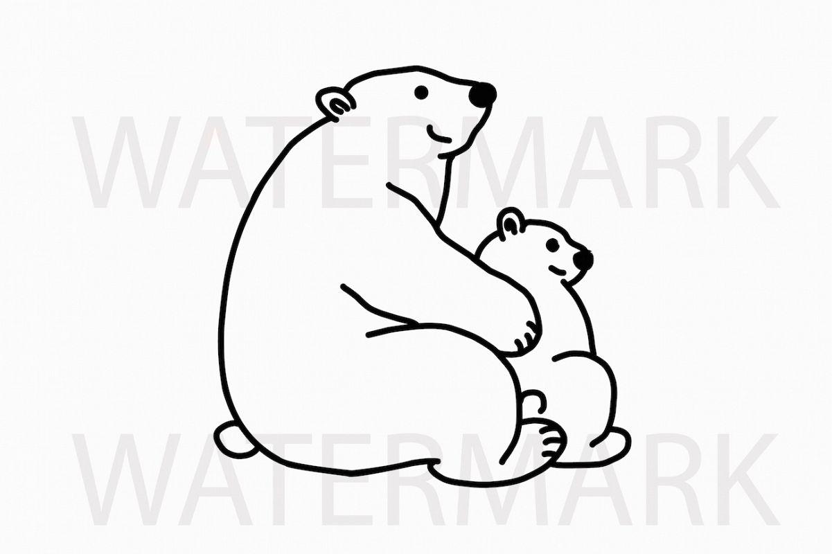 Mama Bear Hugs Cub