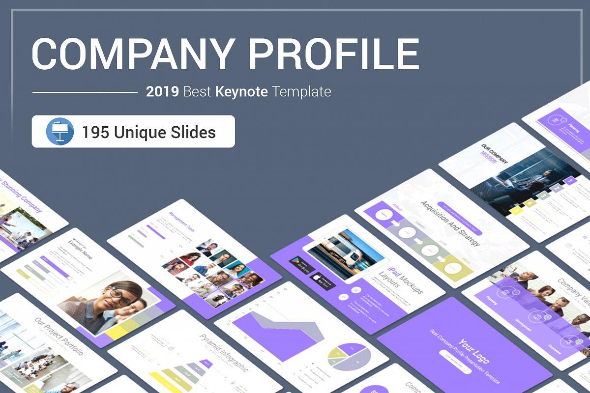 Company Profile Keynote Template example image 1