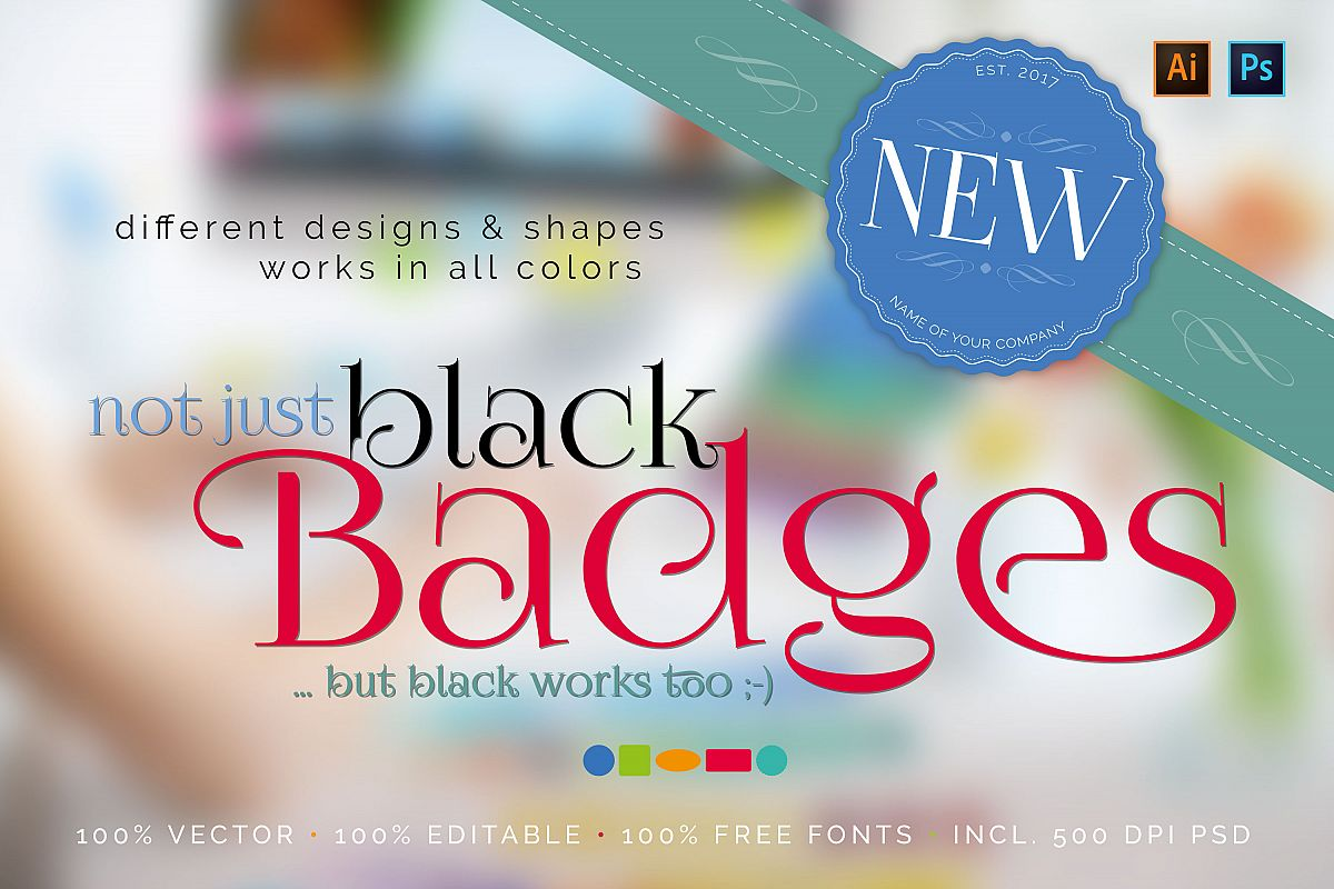 Not just black badges ;-) example image 1
