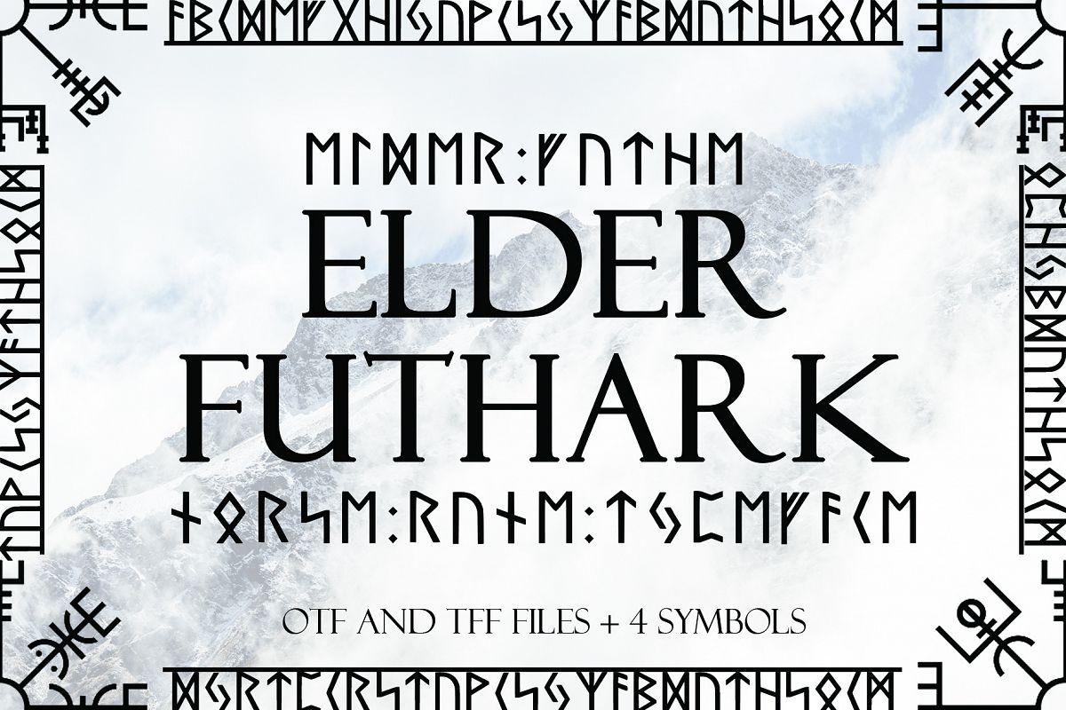 Norse Elder Futhark Typeface example image 1