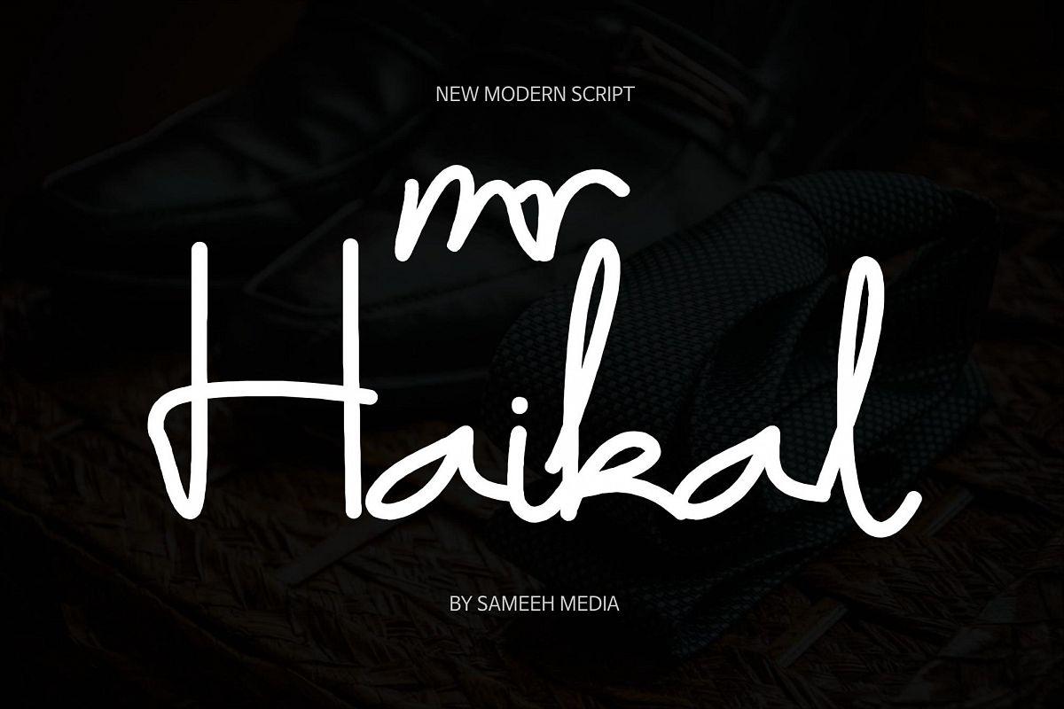 Mr Haikal example image 1