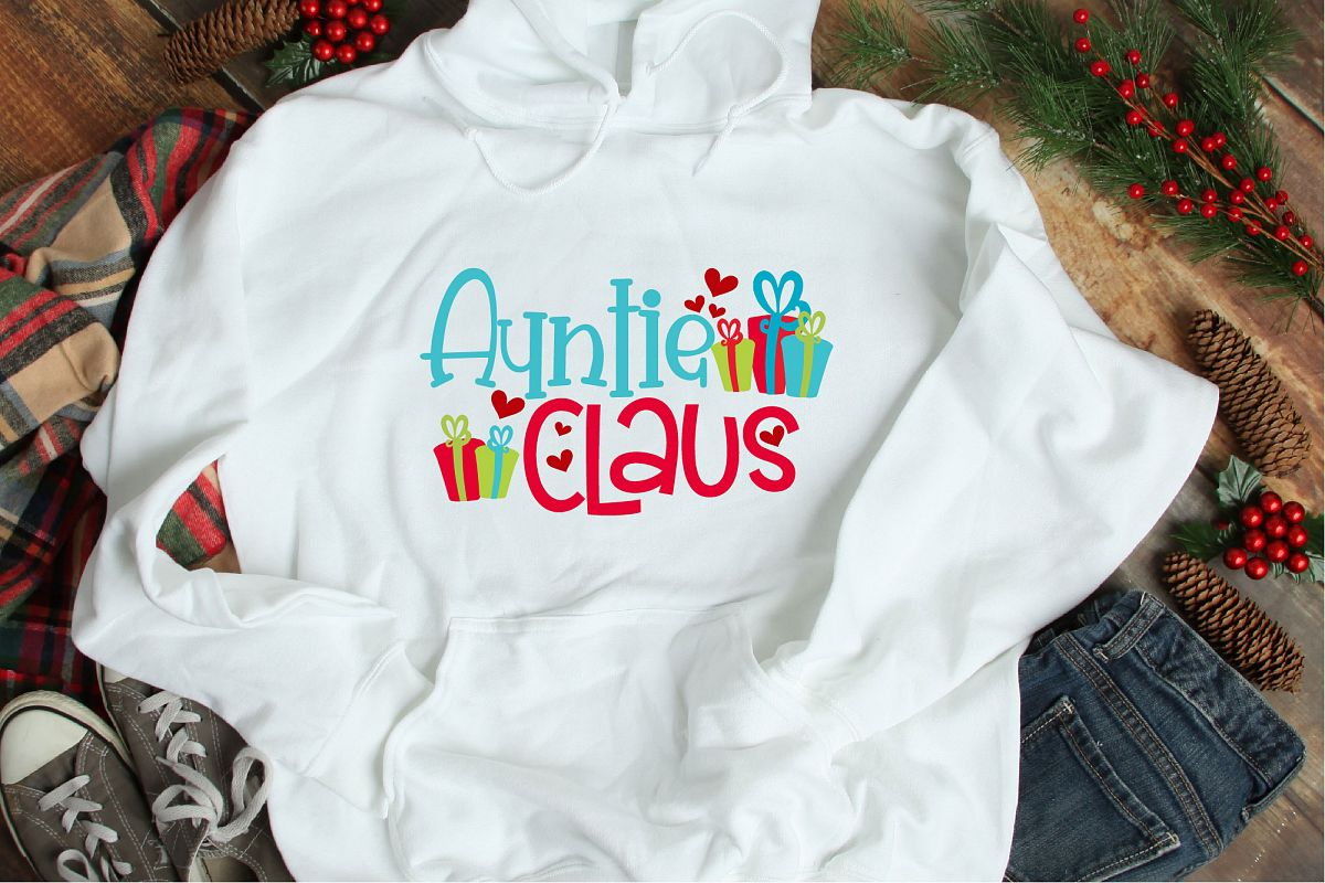 Auntie Claus SVG, Santa Claus Christmas Sublimation example image 1
