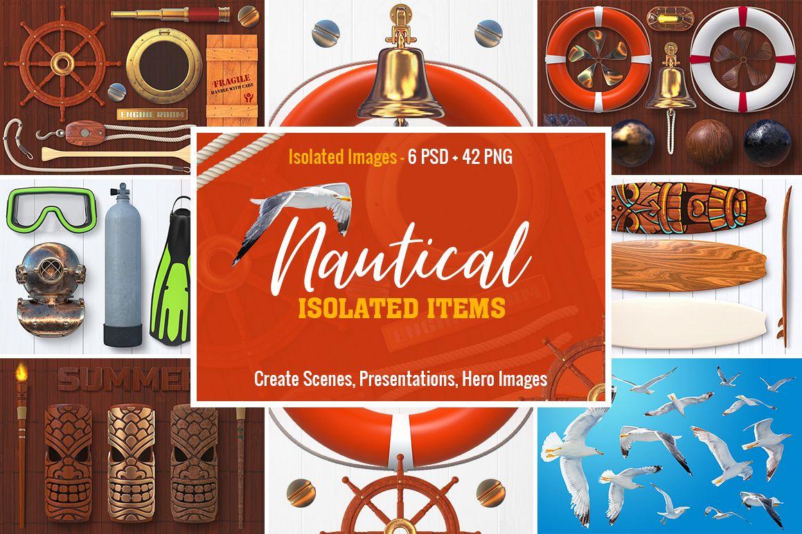Isolated Nautical Items example image 1