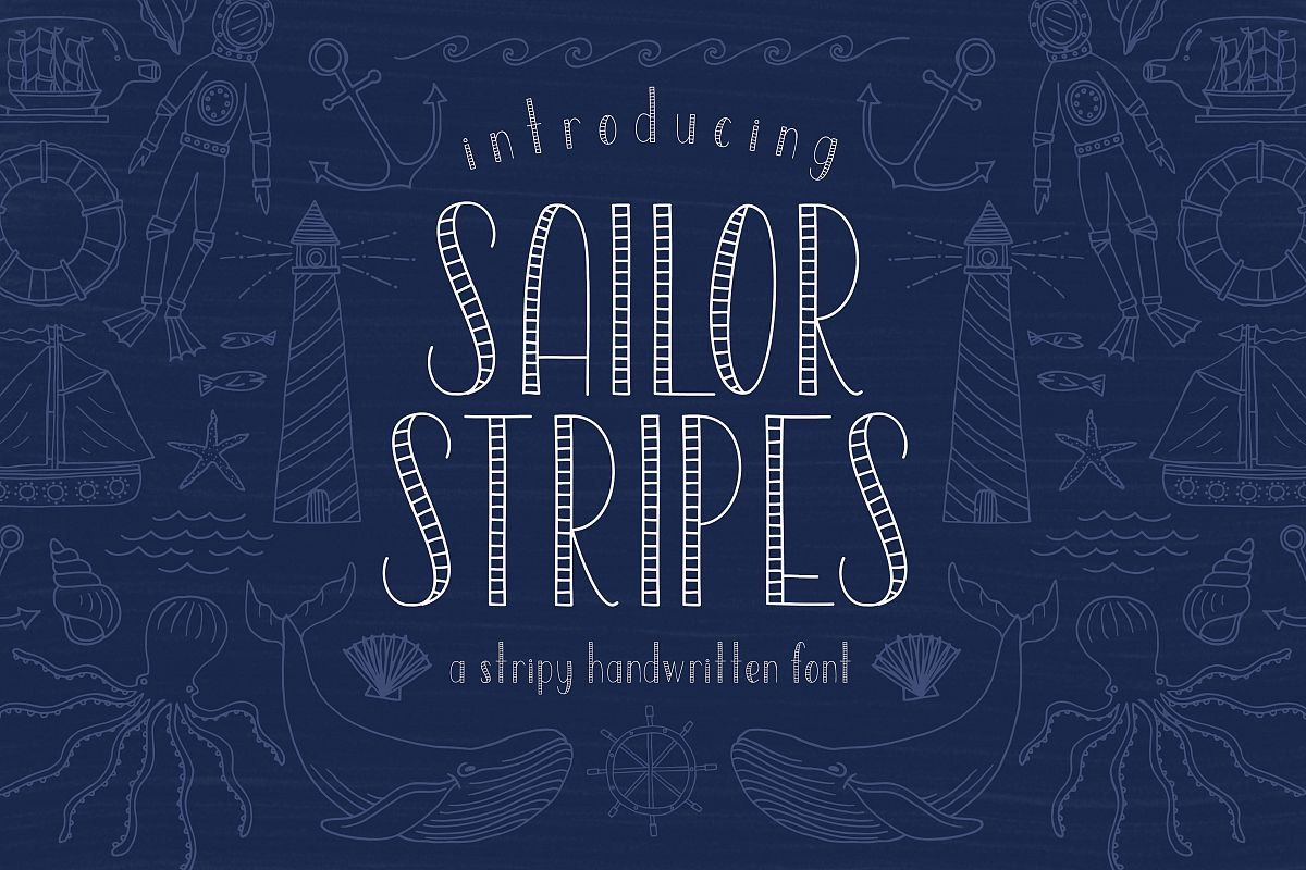 Sailor Stripes San Serif Font example image 1