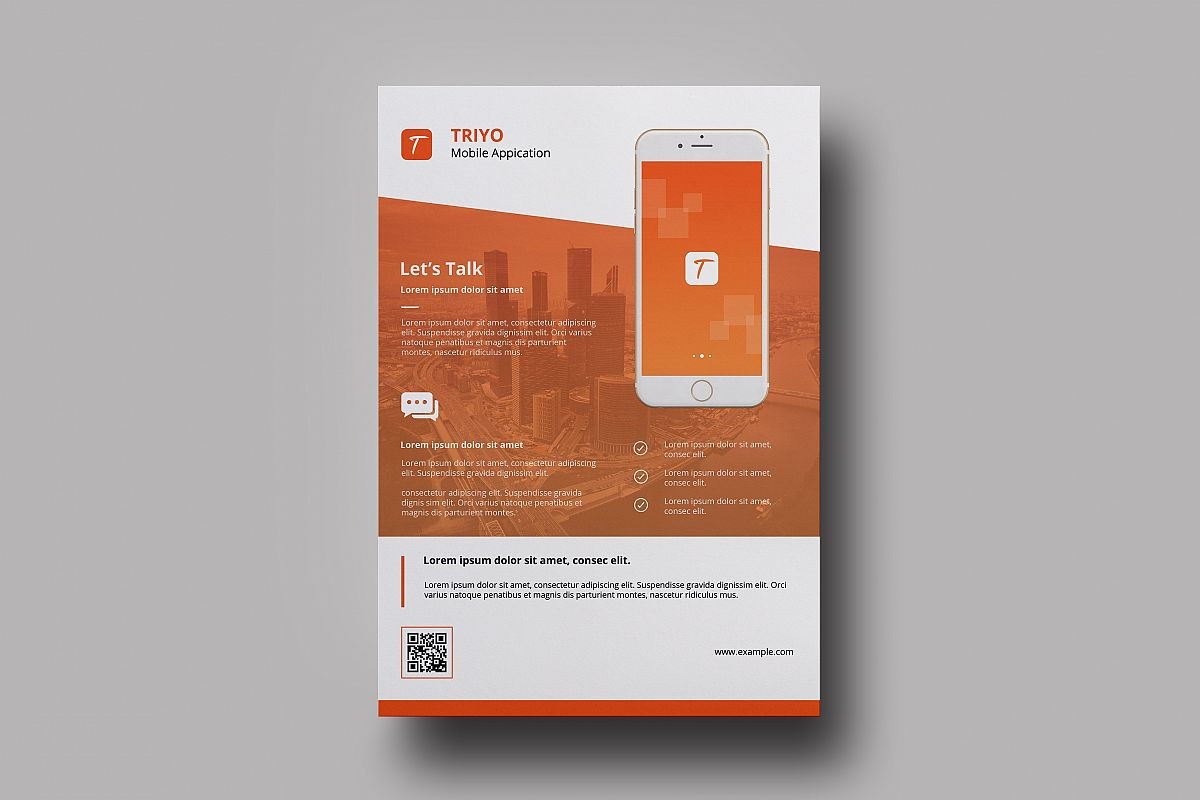 Mobile application flyer  example image 1
